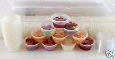 125 Cups +125 Lids - Choice 2 oz. LARGE PLASTIC CUP JELLO Souffle Shot Portion