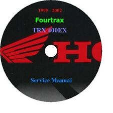 1999 - 2002 Honda Fourtrax TRX 400EX Service Manual. CD Format PDF file