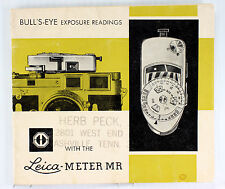 Original Leica Meter MR Instructions - printed in 1963 or 1964 - 24 pages