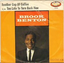 "BROOK BENTON ""ANOTHER CUP OF COFFEE"" POP SOUL SP 1964 MERCURY 72266"
