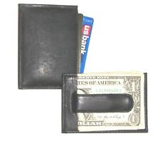 Front Pocket Wallet  / Moneyclip - Black Leather - New