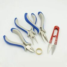 DIY Jewelry Tool Making Beading Beads Crafting Sets Pliers Rings Hand Scissored