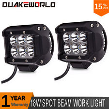 2X 4Inch 18W Cree LED Light Bar SPOT Off road SUV ATV UTE Truck 4X4 Boat Pods