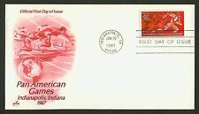 #2247 22c Pan-American Games, Art Craft FDC **ANY 4=FREE SHIPPING**