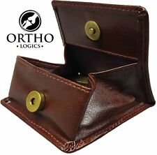 Orthologics Cuir Brun Porte-monnaie Pliage Porte-feuille Money Change Carte OL8