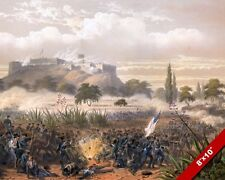 MEXICAN AMERICAN WAR BATTLE OF CHAPULTEPEC MEXICO PAINTING REAL CANVAS ART PRINT