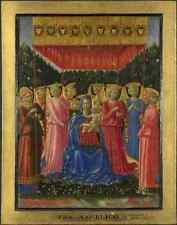Benozzo Gozzoli The Virgin And Child With Angels A4 Print