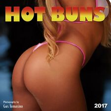 HOT BUNS - 2017 WALL CALENDAR - BRAND NEW - SEXY PINUPS SWIMSUIT MODELS 180886