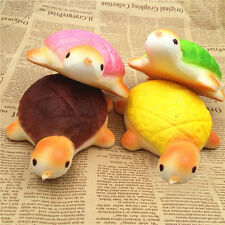 Caute Jumbo Squishy Bread Scented Turtle Phone Charms Straps Slow Rising Bun Toy