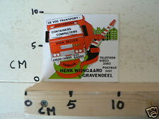 STICKER,DECAL DAF TRUCKS DE VOS TRANSPORT 'S-GRAVENDEEL