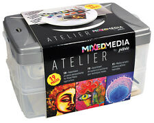 Pebeo Mixed Media Atelier Workbox - 19 Assorted Piece Art Gift or Starter Set