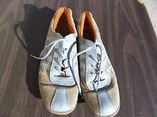 Ecco Cream & Sky Blue Trim Fashion Sneaker Shoes Euro 40 US 7 1/2 140214