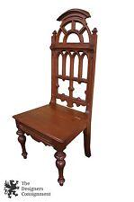 Antique Neoclassical Renaissance Revival Carved Desk Chair Secret Compatment