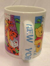 APPLAUSE DISNEY WINNIE THE POOH AND FRIENDS 100 ACRE NEW YORK COFFEE MUG / CUP