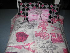 4 Piece Cute American Girl Inspired Paris With 3 Pillows 18 Inch Doll Bedding
