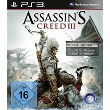 PS3 game - Assassin's Creed III game - PS3 Exklusive Edition (EN/DE) (boxed)