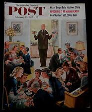 Saturday Evening Post Magazine February 23 1957 MIAMI BEACH - JOCKEY - SUGARING