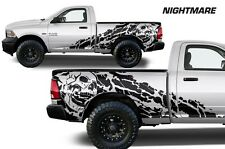 Dodge Ram Truck 1500/2500 09-2014 MIDBOX Vinyl Decal Wrap NIGHTMARE Matte Black