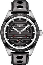 T1004281605100 Tissot PRS 516 Mens Watch Automatic Chrono Black Leather Strap