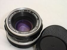 NIKON NIKKOR - H  auto 50mm F 2  (Non Ai ) Lens Works good, clean!  SN635995