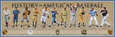 History of the American Baseball Print, Poster 36x11.75