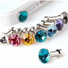30 Pieces Luxury Diamond Earphone Anti Dust Plug Cap for 3.5mm Mobile Samsung