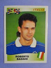 FIGURINA CALCIATORI PANINI STICKERS BAGGIO ITALIA EUROPA EURO 96 1996 NEW- FIO