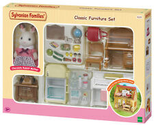 New! 5220 Sylvanian Families Classic Furniture Set inc Rabbit Figure Children 3+