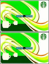 2x STARBUCKS 2010 CANADIAN AROMA EXPANSION BILINGUAL COLLECTIBLE GIFT CARD LOT