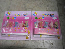 2PK Happy Birthday Cake Candles with number 1 2 3 4 5 6 7 8 9 0  G7