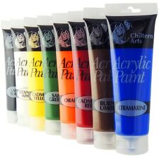 8 X 120ML TUBES OF ACRYLIC PAINT PAINTS ASSORTED COLOURS ARTIST ART AND CRAFT