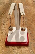 """VICTORIA WIECK"" 18K/SS CRYSTAL BALL DROP *ABSOLUTE EARRINGS GORGEOUS!!!"