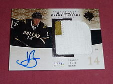 09-10 Ultimate Jamie Benn Debut Threads Auto 2CLR Patch RC 17/25 L@@K Nice Card