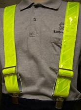 """Suspenders Safety Reflective 2""""x48"""" adjustable Canary Yellow elastic back NEW"""
