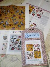 SAJOU heritage collection Cross Stitch Chart-toile du JOUY-indiennes / Chintz