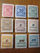 EBS Germany 1923 Inflation Numeral in Rosette (I) MNH Michel No. 318B-330B**
