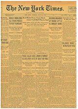 Original Newspaper DILLINGER BROKE BETRAYED DILLINGER DEAD July 24 1934 080332CR
