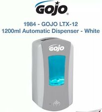 GOJO LTX-12 1200ml Automatic Hand Free Soap Dispenser White / Grey Free P&P New