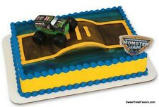 Monster Jam Cake Decoration Topper Party Supplies SET Birthday Truck Races Cars