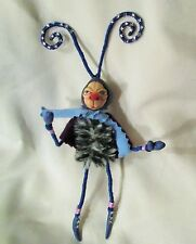 ALIEN BUG mini poseable fabric sprite polymer clay unique ooak art doll insect