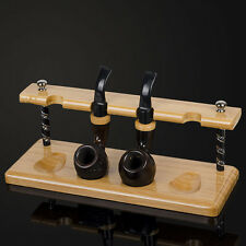 New Natural Bamboo Smoking Pipe Stand Rack Holder For 4 Smoking Pipes