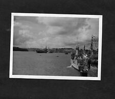 C1950's Original Photo - Warships moored at devonport Naval Day