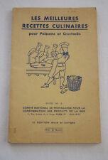GASTRONOMIE-RECETTES CULINAIRES POISSONS CRUSTACES,1970