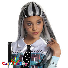 Child's Girl's Official Monster High Frankie Stein Wig Fancy Dress Accessory