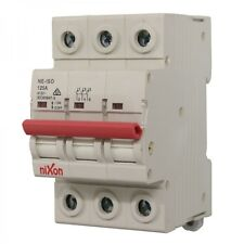 125AMP - 3 Pole Isolator Switchboard - Din Rail mount - Main Switch