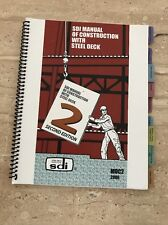 Used SDI Manual of Construction with Steel Deck by Steel Deck Institute