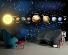 Solar system Planets 3D Wall Mural Photo wallpaper for Kids Room FREE SHIPPING!