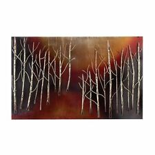 """Urban Designs Hand Crafted Abstract Trees 38"""" Metal Wall Art Decor - SCRATCHED"""