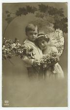 1910's Vintage Children Child CUTE KIDS photo postcard
