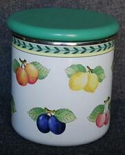 VILLEROY & BOCH FRENCH GARDEN FLEURENCE METAL KITCHEN CANISTER WITH WOODEN LID